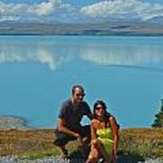 Mt. Cook Lake Art Print
