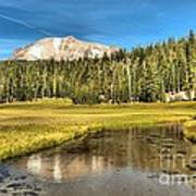 Mt Lassen Reflections Art Print