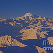 Mt. Mckinley Sunset From Above Art Print