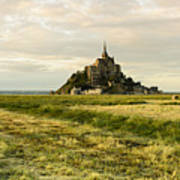 Mt Saint Michel At Sunset Art Print