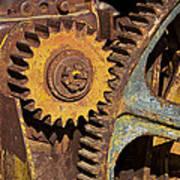 Mud Caked Gears Art Print