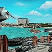 Mullet Bay Art Print