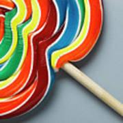 Multicoloured Lollipop, Close-up Art Print