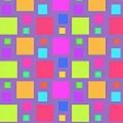 Multicoloured Squares Art Print