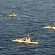 Multinational Navy Ships Move Art Print