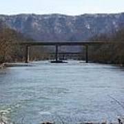 Multiple Bridges Crossing The Holston River Art Print