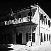 Municipal Cultural Centre And City Museum And Archives In The Restored Old Colonial Port Larnaca  Art Print