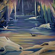 Mural Death In Autumn Art Print