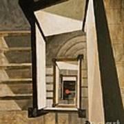 Museum Stairs Art Print