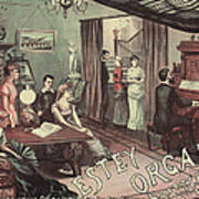 Musical Evening Ad, C1890 Art Print