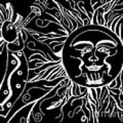 Musical Sunrise - Inverted Art Print