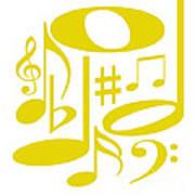 Musical Yellow Art Print