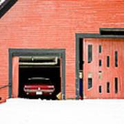 Mustang Car Barn Art Print