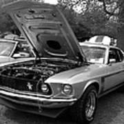 Mustang Chrome Art Print