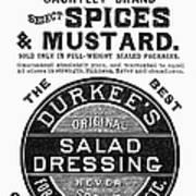 Mustard Ad, 1889 Art Print