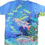 Mutton Snapper Mens Shirt Art Print