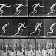 Muybridge Locomotion, Man Running, 1887 Art Print