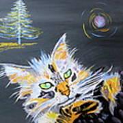My Calico Cat Wizard Art Print