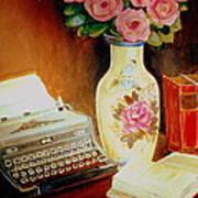 My Classic Royal Typewriter Memories Of Hemingway   Art Print