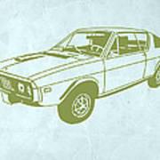 My Favorite Car 2 Art Print by Naxart Studio
