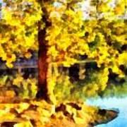 My Golden Tree Art Print