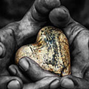 My Hands Your Hard Art Print by Stelios Kleanthous