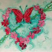 My Heart Has Been Pierced By Love Art Print
