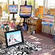 My Studio And Paintings Art Print