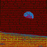 My Ten Cent Trip To The Moon 3 Art Print