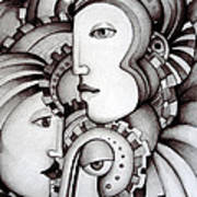 My Three Warriors Art Print by Simona  Mereu