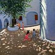 Mykonos Monastery Art Print