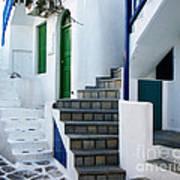 Mykonos Stairs Art Print