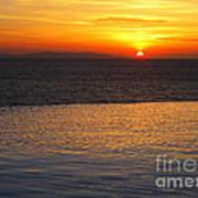 Mykonos Sunset Art Print