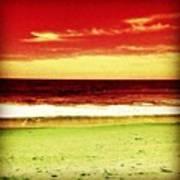 #myrtlebeach #ocean #colourful Art Print