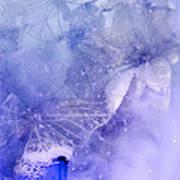 Mystical Garden- Butterflies In Blue Art Print