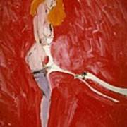 Myth Contemporary Leda And Swan 3 Art Print