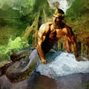 Naga - King Cobra Art Print