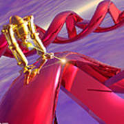 Nanorobot On Dna Print by Victor Habbick Visions