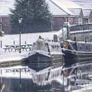 Narrowboats At The Boat Inn Art Print