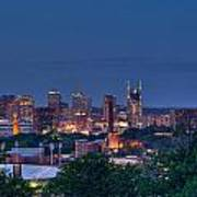 Nashville Cityscape 7 Art Print