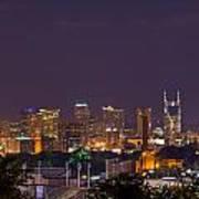 Nashville Cityscape 9 Art Print