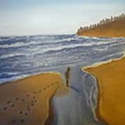 Natalie At 3rd Beach Art Print