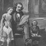 Nathaniel Hawthorne, American Author Art Print