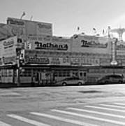 Nathan's Original In Black And White Art Print