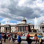 National Gallery At Trafalgar Square Art Print