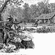 Native American Attack, C1640 Art Print