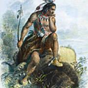 Native American Hunter Art Print