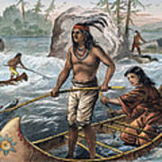 Native Americans/fishing Art Print