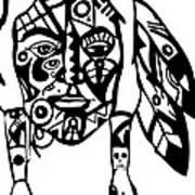 Native Man Art Print