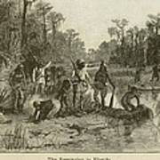 Natives Of Many Southeastern Tribes Art Print by Everett